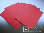 Прокладочные листы под монеты красные MM-Schulz Польша 10 шт, фото №2