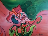 Цветок 45х55см масло, холст, фото №5