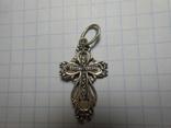 Крестик нательный Серебро 925 Вес - 1,64 грамм, фото №6