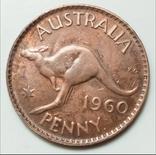 1 пенни 1960 г. Австралия, фото №2
