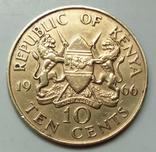 10 центов 1966 г. Кения, фото №3