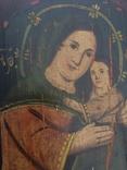 Ікона Богородиці,на дерев'яній дошці., фото №6