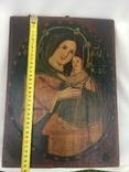 Ікона Богородиці,на дерев'яній дошці., фото №13