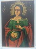 Ікона Богородиці, на дерев'яній дошці., фото №10