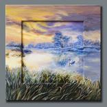 """""""Тихий ранок на озері"""" Жикле у росписній рамці (hand-made) фото 1"""