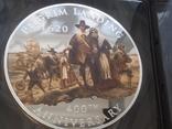 Америка 2 доллара 2020 тираж 400 штук 2 унц Корабль Парусник банковский футляр сертификат, фото №2