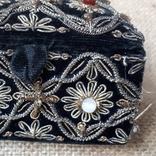 Бархатная шкатулка,вышивка канителью,Индия, фото №7