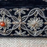 Бархатная шкатулка,вышивка канителью,Индия, фото №8