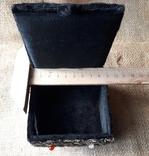 Бархатная шкатулка,вышивка канителью,Индия, фото №9