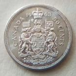50 центов канада 1963 года, фото №2