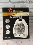 Тепловентилятор, электрообогреватель, дуйка Domotec MS 5901 мощностью 2000 Вт, фото №9