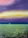 Картина, Дивне небо, 15х20 см. Живопис на полотні, фото №2