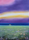 Картина, Дивне небо, 15х20 см. Живопис на полотні, фото №3