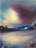 Картина, Спогади про зиму, 15х20 см. Живопис на полотні, фото №2