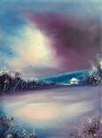 Картина, Спогади про зиму, 15х20 см. Живопис на полотні, фото №4