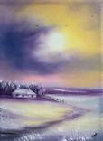 Картина, Історія про зиму, 15х20 см. Живопис на полотні, фото №3