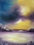 Картина, Роздуми про зиму, 15х20 см. Живопис на полотні, фото №2