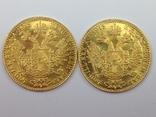 1 дукат 1915г. золото, Австро-Венгрия 2 шт., фото №3