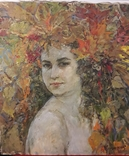 "А.Малишевская ""Автопортрет"", х.м., 1998., фото №2"