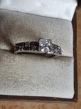 Современное кольцо. Серебро 925 проба. Размер 18.5, фото №3