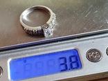 Современное кольцо. Серебро 925 проба. Размер 18.5, фото №7