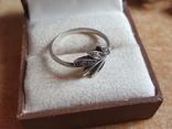 Современное кольцо. Серебро 925 проба. Размер 19, фото №4