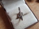 Современное кольцо. Серебро 925 проба. Размер 19, фото №5