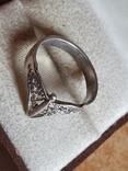 Советское колечко серебро 875 проба. Размер 17, фото №4