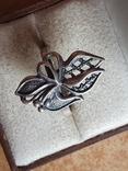 Советское колечко серебро 925 проба. Размер 18.5, фото №3