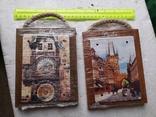 Сувенирные картины плакетки Прага Чехия новые 2 шт, фото №2