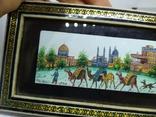 Декоративная работа. Восточная страна и верблюды. Ручная роспись, фото №7