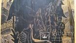 """Гравюра на дереві """"Гармонія"""", Н54,5х39,5 см, фото №4"""