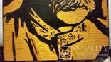 Гравюра на дереві, портрет І.Я.Франко Н29х20 см, фото №5