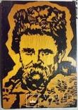 Гравюра на дереві, портрет Т.Г.Шевченко Н30х21 см, фото №2