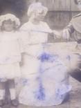 Офицер и солдат Первой Мировой с семьей старое фото, фото №5