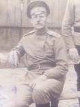 Офицер и солдат Первой Мировой с семьей старое фото, фото №7