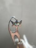 Кулон кошка серебро, фото №2