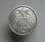 1 марка 1906 г. (D), Германия, серебро, № 1, фото №3