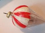 """Новогодняя Елочная Игрушка Парашют с крючком """"Мишка на парашюте"""", фото №4"""