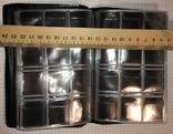 Альбом для монет, 120 ячеек 3x3см (10 страниц) / красный, фото №5