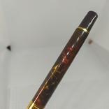 Перьевая ручка Позолота. Тяжеленькая. Длина 135мм, фото №5