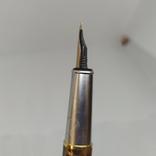 Перьевая ручка Позолота. Тяжеленькая. Длина 135мм, фото №13