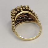 Золотое кольцо с натуральными опалами, фото №6