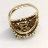 Золотое кольцо с натуральными опалами, фото №7