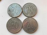 53 монеты Югославии ( 100,50,20,10,5,2), фото №8