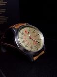 Часы марьяж Ракета 2609.НА корпус Авиатор с кожаным ремнём Megir, фото №5