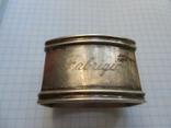 Серебро Салфетница Fabrigio необычный штапм 27,48 гр., фото №2