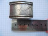 Серебро Салфетница Fabrigio необычный штапм 27,48 гр., фото №4