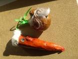 Живые Морковка и Репка из папье-маше, фото №5