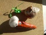 Живые Морковка и Репка из папье-маше, фото №6